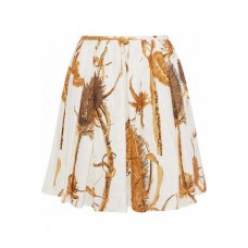 REDValentino Pleated printed cotton-gauze mini skirt Off-white New Products Discount 1874378723072616 ZcimLb5Z