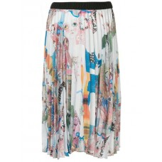 Romance Was Born Earth Pleated Skirt MULTI Polyester 100% Women's Pleated Skirts 13407809 ODNEQLS