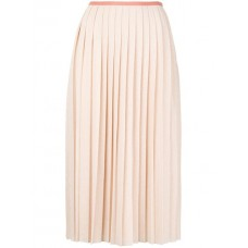 See By Chloé Long Pleated Skirt 6F1 IVORY ROSE Cotton 100% Women's Pleated Skirts 12991736 TQEBBUK