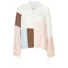3.1 Phillip Lim Patchwork Track Jacket WH101 Polyester 100% Women's Oversized Jackets 13076076 VXEUFYS