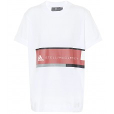 Adidas by Stella McCartney Printed cotton T shirt White 100% cotton Women's Short Sleeved  P00334998 JAAEPWT