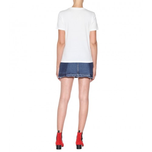 AlexaChung Printed cotton T shirt Ivory 100% cotton Women's Short Sleeved  P00326921 MPNTEZU