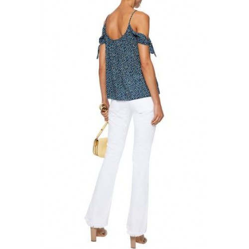 BAILEY 44 Wahine Ditsy cold-shoulder floral-print gauze top Navy 100% Rayon 3633577410353627 ce6cA0Yz