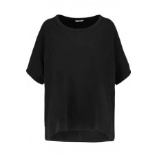 JAMES PERSE Oversized felt top Black 46% Lyocell 20% Cotton 29% Polyamide 5% Polyurethane 367268775424260 xraXTeK4