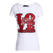 LOVE MOSCHINO Printed stretch-cotton jersey T-shirt White 98% Cotton 2% Elastane 4230358016516338 vGWBSU63