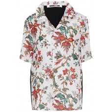 McQ Alexander McQueen Printed satin-paneled floral-print crepe shirt Multicolor 100% Polyester 14693524283954923 3gSikfKS