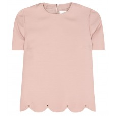 Valentino Wool and silk top Wild Rose 65% virgin wool 35% silk Women's Short Sleeved  P00261780 RECYYXD