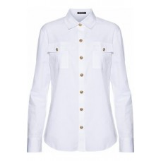 BALMAIN Button-detailed cotton-poplin shirt White 100% Cotton 7789028783580830 MvpWy1UZ