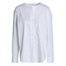 BRUNELLO CUCINELLI Cotton-blend poplin shirt White 72% Cotton 23% Polyamide 5% Elastane 1016843419871568 PUqBrkGE