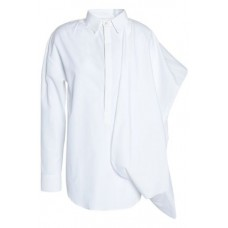 CHALAYAN Draped cotton-poplin shirt White 100% Cotton 7789028785063216 4Oenl4kN